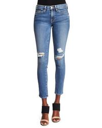 Frame Le Skinny De Jeanne Distressed Jeans Laurel