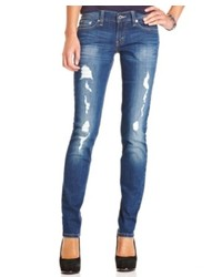 Levi's Juniors Jeans 524 Skinny Destroyed Dark Wash