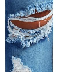 f5e4c1488fc Boohoo Loren Distressed Rip Knee Skinny Jeans, $35   BooHoo ...