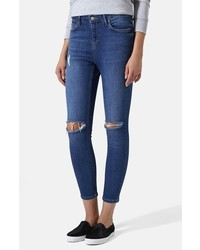 Topshop Moto Jamie High Rise Ripped Jeans
