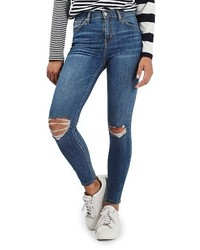 Moto jamie ripped high waist ankle skinny jeans medium 3753038