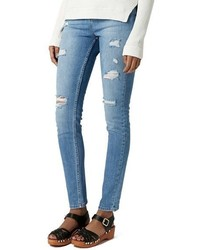 Topshop Moto Ripped Skinny Jeans