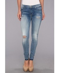 Hudson Nico Mid Rise Super Skinny W Release Hem In Easy Blues