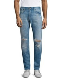 7 For All Mankind Paxtyn Skinny Fit Outlaw Distressed Jeans