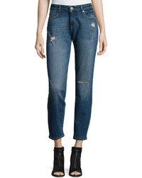DL1961 Premium Denim Skinny Distressed Denim Jeans Kahlo Blue