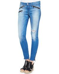 Rag and Bone Rag Bonejean Rbw 23 Kilbowie Distressed Zip Skinny Jeans