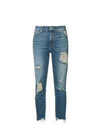 Mother Ripped Cropped Jeans