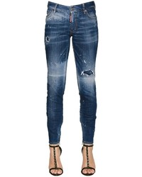 Dsquared2 Ripped Medium Waist Skinny Denim Jeans