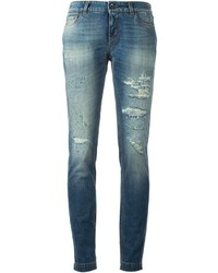 Dolce & Gabbana Ripped Skinny Jeans