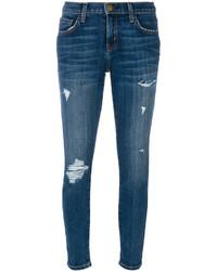 Current/Elliott Ripped Skinny Jeans