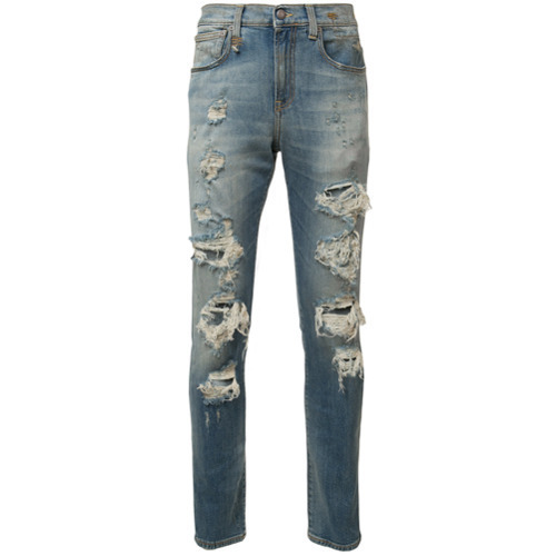 R13 Ripped Skinny Jeans