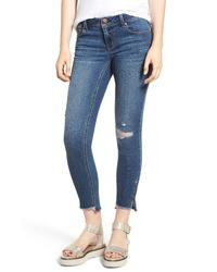 1822 Denim Ripped Step Hem Skinny Jeans