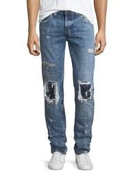 True Religion Rocco Distressed Relaxed Skinny Jeans