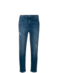 J Brand Skinny Cropped Cigarette Jeans