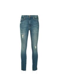 Mother Skinny Distressed Jeans