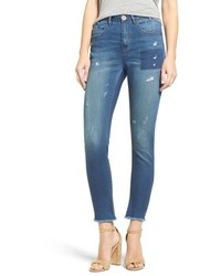 One Teaspoon Skipper Scallywags Distressed High Waist Skinny Jeans