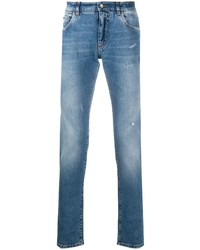 Dolce & Gabbana Stonewashed Effect Slim Fit Jeans