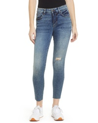 SWAT FAME Sts Blue Ellie Ripped Ankle Skinny Jeans