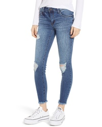 SWAT FAME Sts Blue Emma Ripped Skinny Jeans