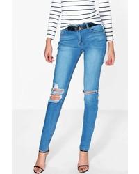 Boohoo Tall Ella Ripped Knee Skinny Jean