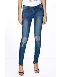 Boohoo Tall Elle Knee Ripped Skinny Jean
