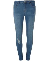 Tall Lightwash Rip And Repair Skinny Jeans