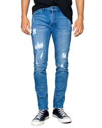 ZGY DENIM Ziggy Denim Pipes Ripped Skinny Fit Jeans