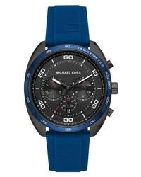 Michael Kors Dane Silicone Strap Watch