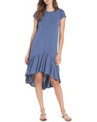 Ruffle hem knit t shirt dress medium 4952055