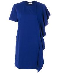 MSGM Ruffle Trim T Shirt Dress