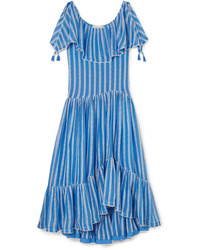 Tory Burch Med Ruffled Broderie Anglaise Cotton And Voile Maxi Dress
