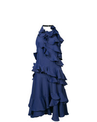 Maison Rabih Kayrouz Halterneck Ruffled Dress