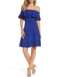 Eliza J Off The Shoulder Fit Flare Dress