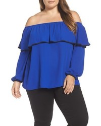 Vince Camuto Plus Size Ruffle Off The Shoulder Blouse