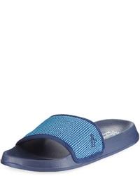 Original Penguin Brandon Knit Pool Slide Sandal Blue
