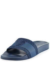 Versace Medusa Greek Key Shower Slide Sandal