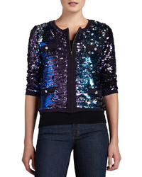 Michl simon allover sequined jacket medium 176154
