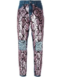Au Jour Le Jour Sequin Embellished Jeans