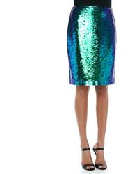 Alycia sequined pencil skirt medium 121645