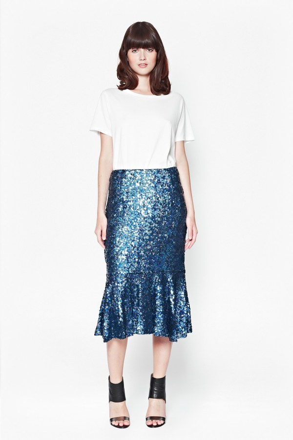 French Connection Sirius Sequins Mermaid Skirt | Where to buy ...