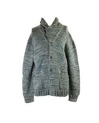 Polo Ralph Lauren Blue Wool Silk Shawl Button Front Cardigan Small
