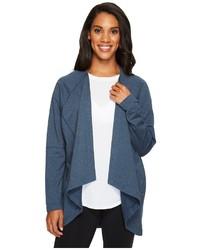 Blue Shawl-Neck Sweater