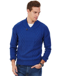 Nautica Cable Knit Shawl Collar Sweater