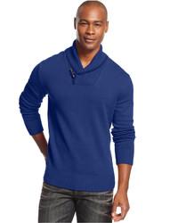 Sean John Long Sleeve Shawl Collar Sweater