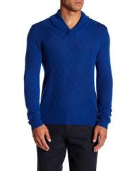 Quinn Diamond Stitch Shawl Neck Sweater