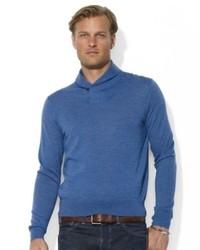Ralph Lauren Polo Sweater Shawl Collar Merino Wool Pullover