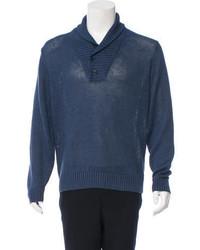 Loro Piana Shawl Collar Linen Sweater