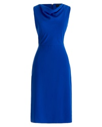 J.Crew Crepe Cowl Neck Sheath Dress