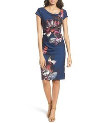 Magnolia cowl neck sheath dress medium 5255714