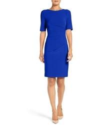 Petite ruched jersey sheath dress medium 817026